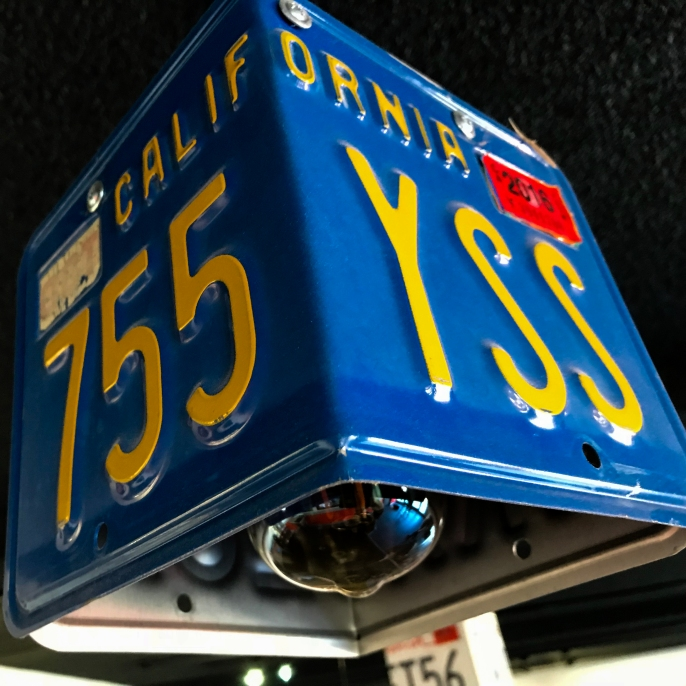 Light covers are made from license plates.