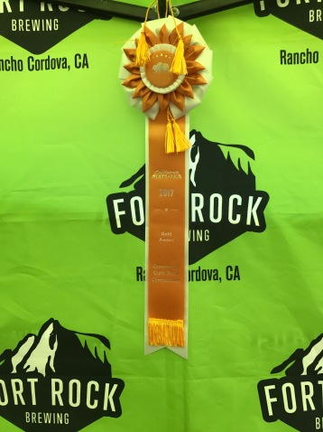 The gold ribbon from the state fair